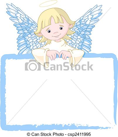 Cards clipart angel Csp2411995 with Clipart Cute Vector