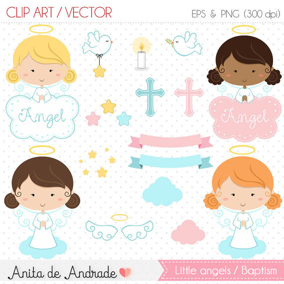 Angel clipart baptism angel #6