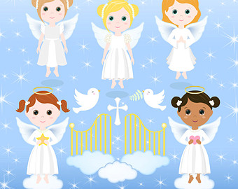 Angel clipart line art Digital Clipart Clipart girl with