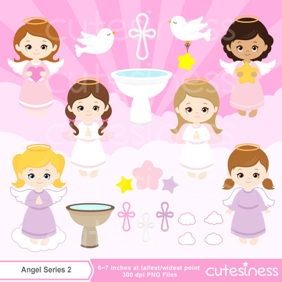 Angel clipart baptism angel #3