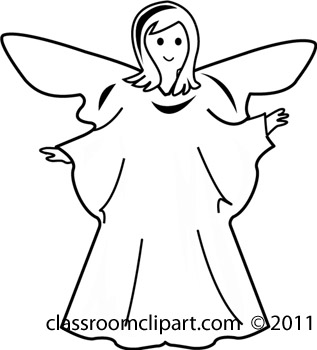 Angel clipart black and white Angel_gbw Black clipart Download black