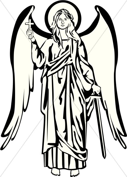 Angel clipart black and white And Picture and Black White