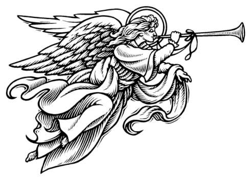 Angel clipart black and white Clipart angel angel clipart clipart