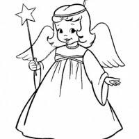 Angel clipart black and white At black angel Angels clipart