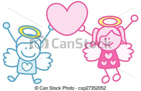 Angel clipart couple #5
