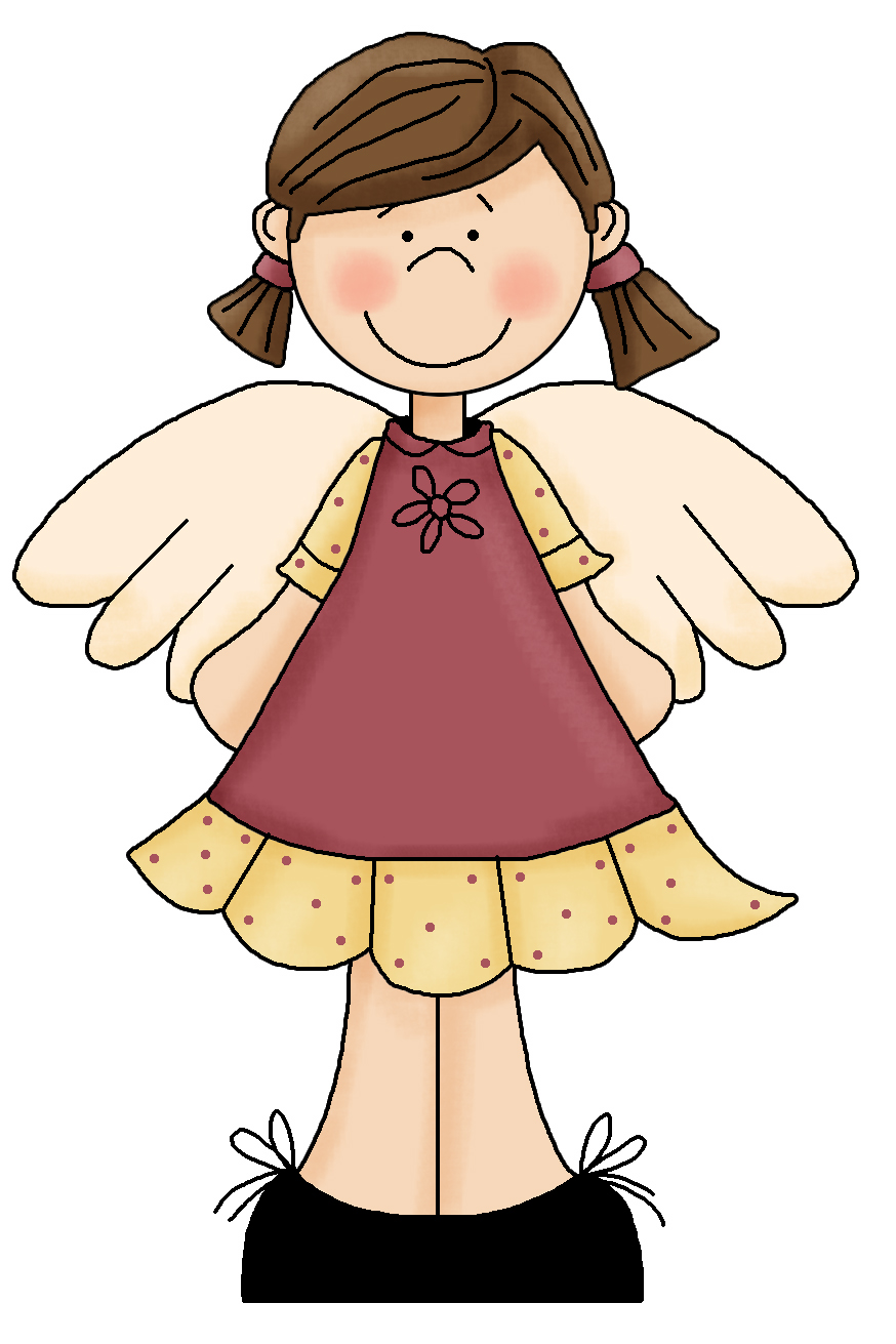 Brunette clipart angel Cute art angel Clipart angel