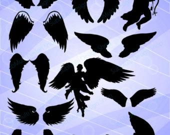 Angel clipart dark hair / files / clipart svg