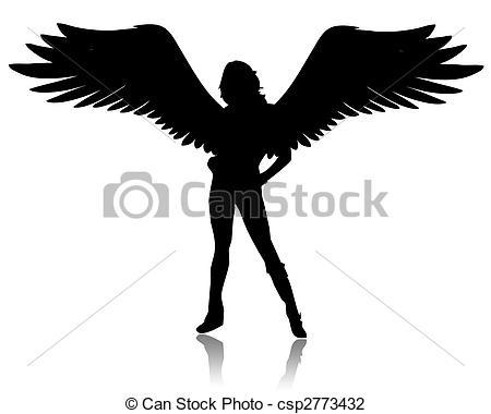 Angel clipart dark hair Illustrations White hair angels Clipart