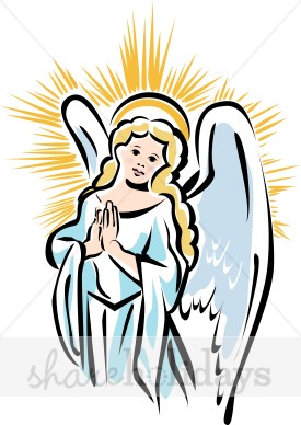 Angel clipart line art Christmas Haired Golden Golden Haired
