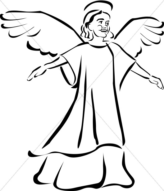 Angel clipart line art Angel Angel Child Child Angel