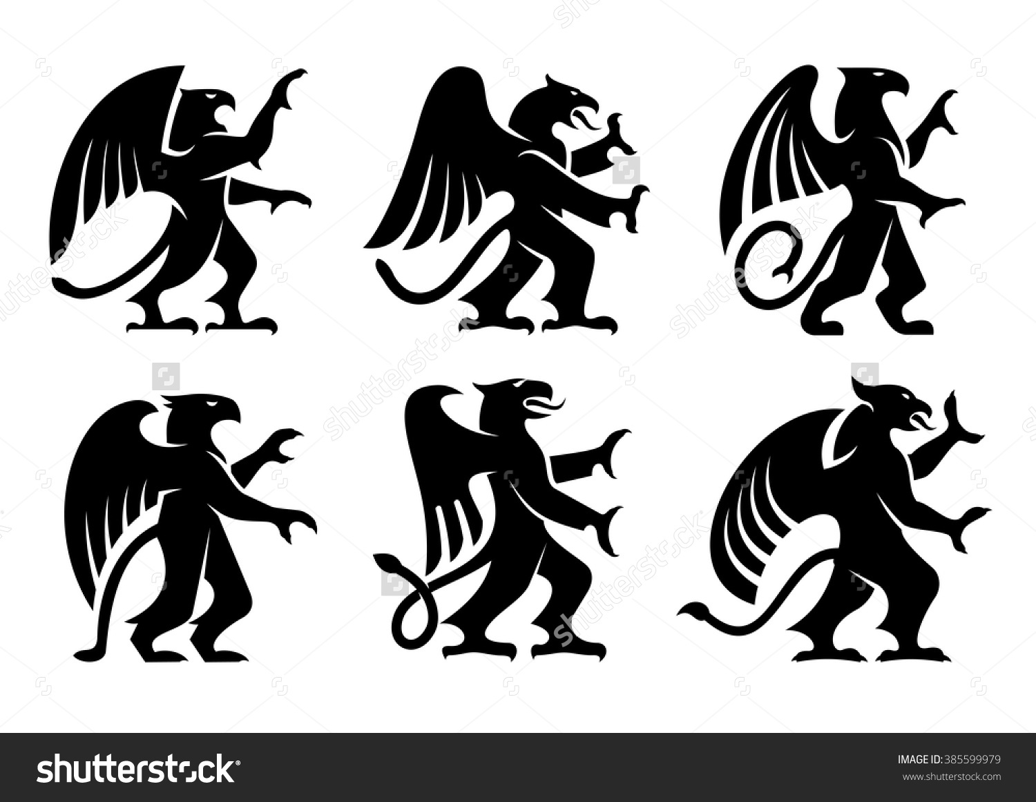 Lion And Angel Or Heraldic