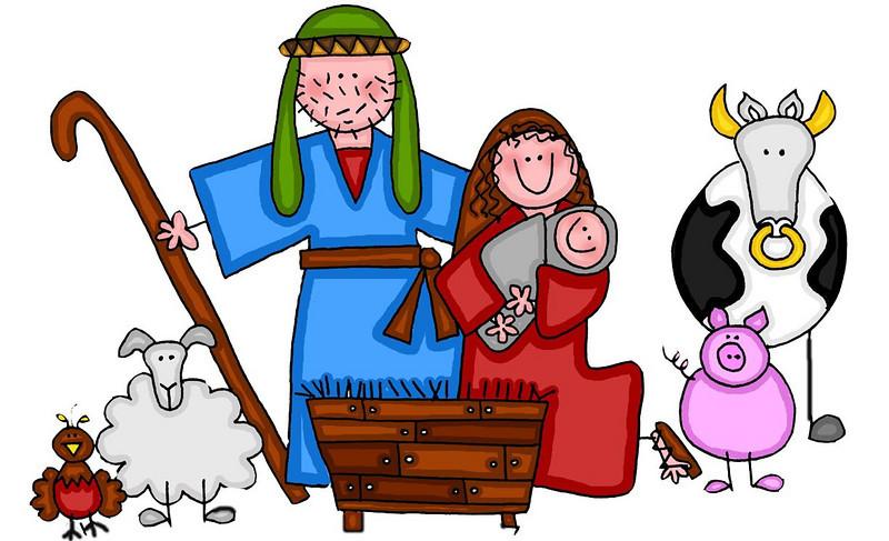 Angel clipart nativity scene 2 images Free Nativity shepherds