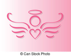 Angel clipart ribbon Stock Angel with 894 heart