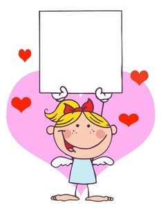 Cards clipart angel  hearts and hearts Girl