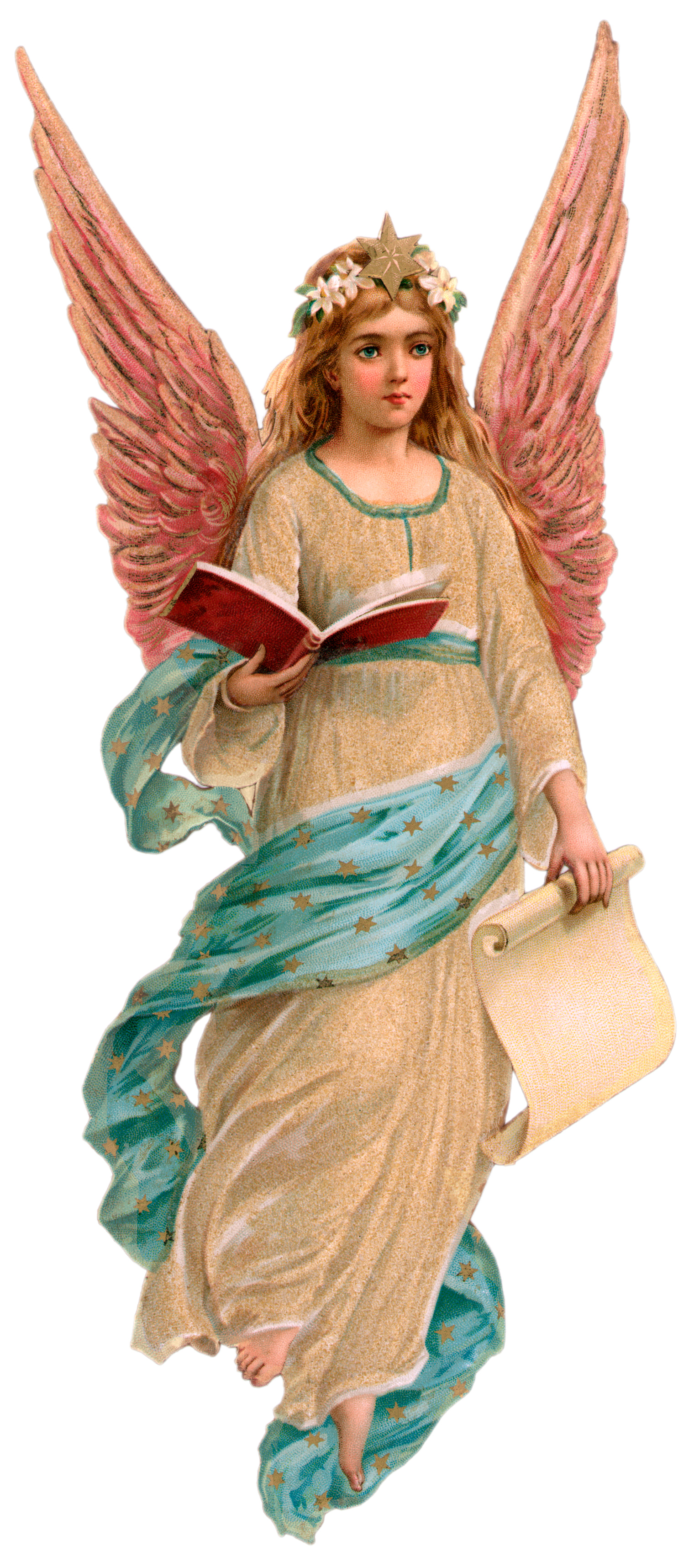 Angel clipart victorian angel #14