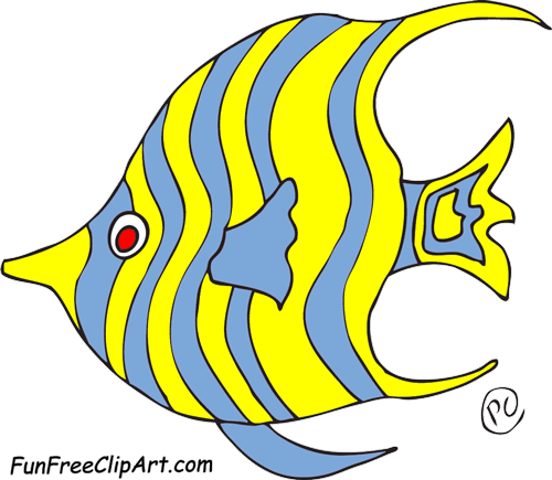 Angelfish clipart big fish Com newsletters and on FunFreeClipArt