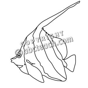 Angelfish clipart big fish Clipart Black Angelfish And