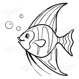 Angelfish clipart black and white Clipart Fish Black Clipart Angel