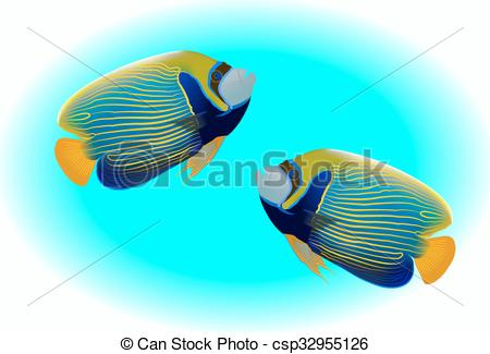Angelfish clipart colorful fish Mostly Angel Fish of illustration
