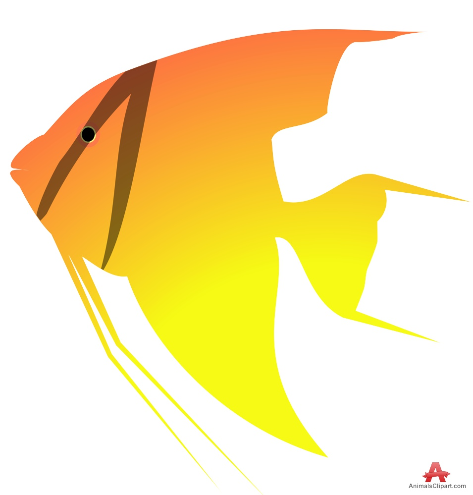 Angelfish clipart fish face Flame Angelfish Clipart Flame Design