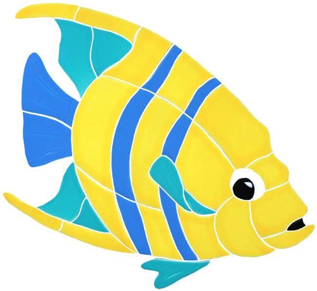 Angelfish clipart fish swimming Ceramicmosaicart Tile com Majestic Angelfish