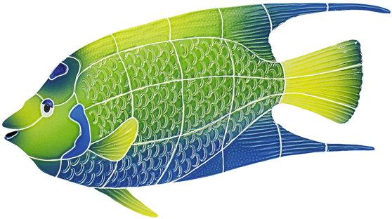 Angelfish clipart large fish Ceramic Ceramic Queen Mosaic Queen