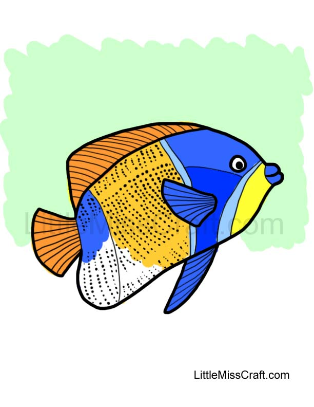 Angelfish clipart little fish Coloring Angelfish coloring Angelfish drawings