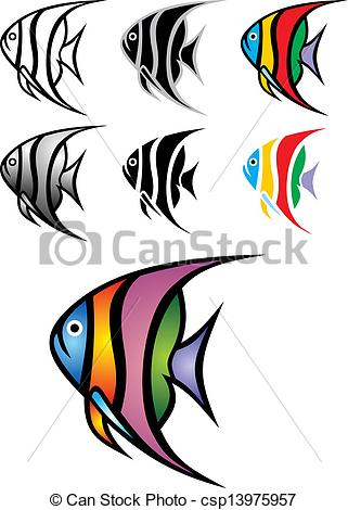 Angelfish clipart little fish Illustrated Vector  illustrated nice