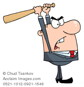Anger clipart angry parent Businessman Businessman Baseball a Anger
