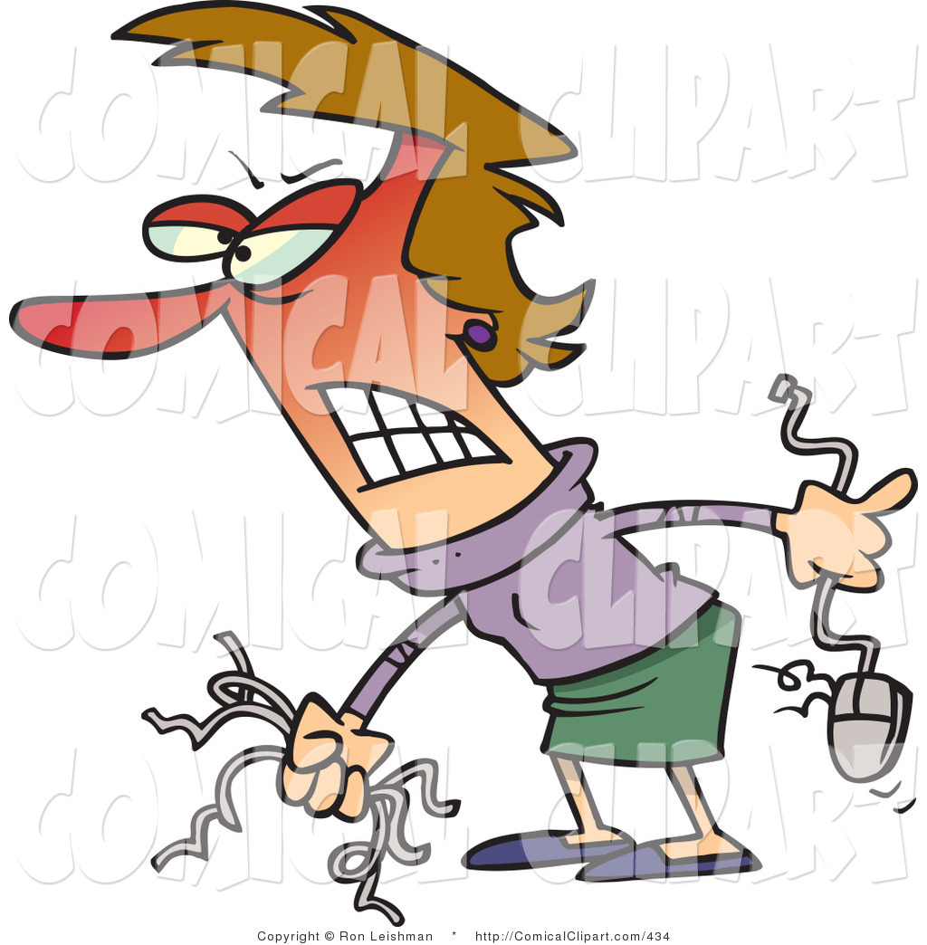Anger clipart disagreement Wires mouse redfaced holding leishman