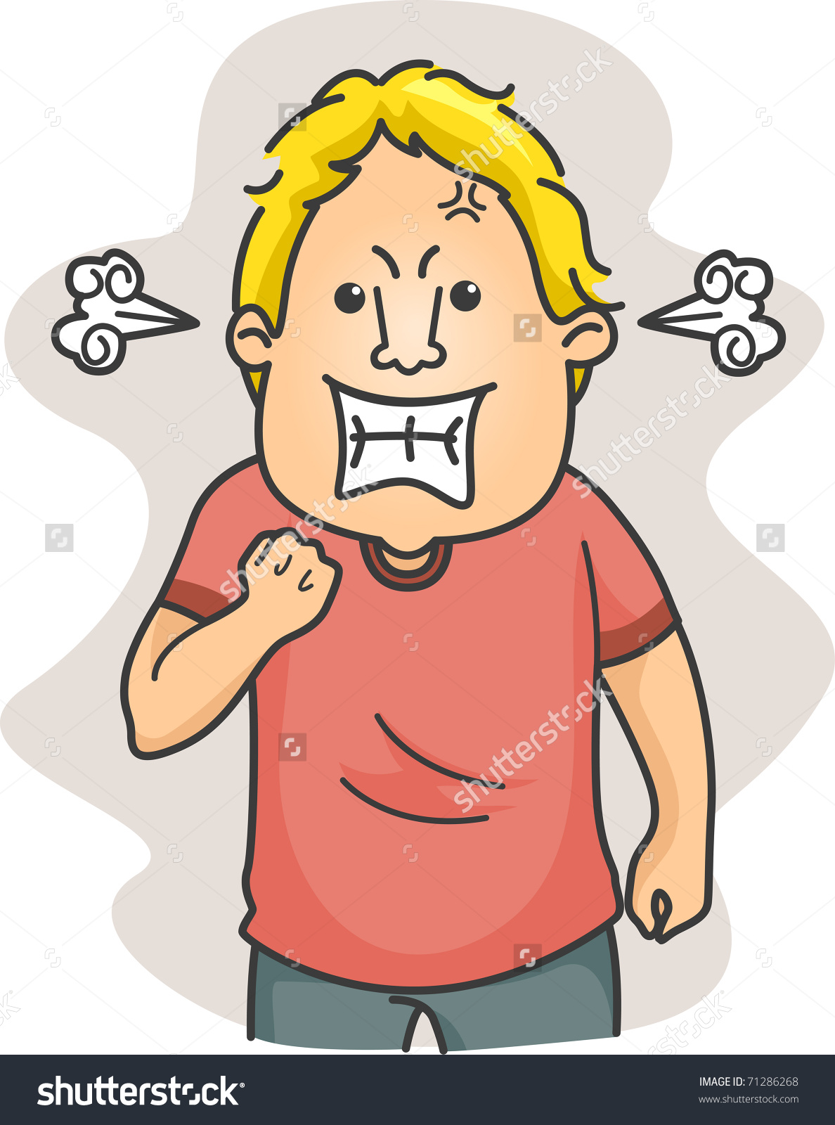 Anger clipart angry manager Illustration Man Fuming clip Stock