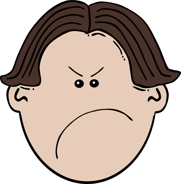 Boy clipart frustrated Unhappy Face Clipart Grumpy Angry