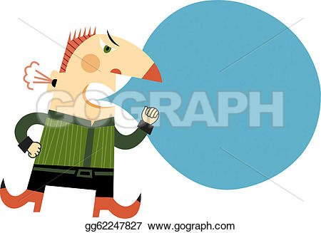 Anger clipart steam Man Illustration An angry his