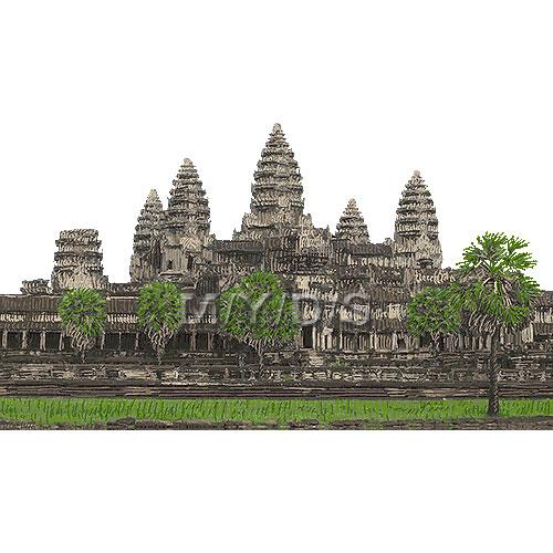 Angkor Wat clipart cambodia Angkor Angkor art Vat Angkor