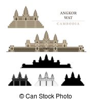 Angkor Wat clipart cambodia Khmer  art Cambodia Wat