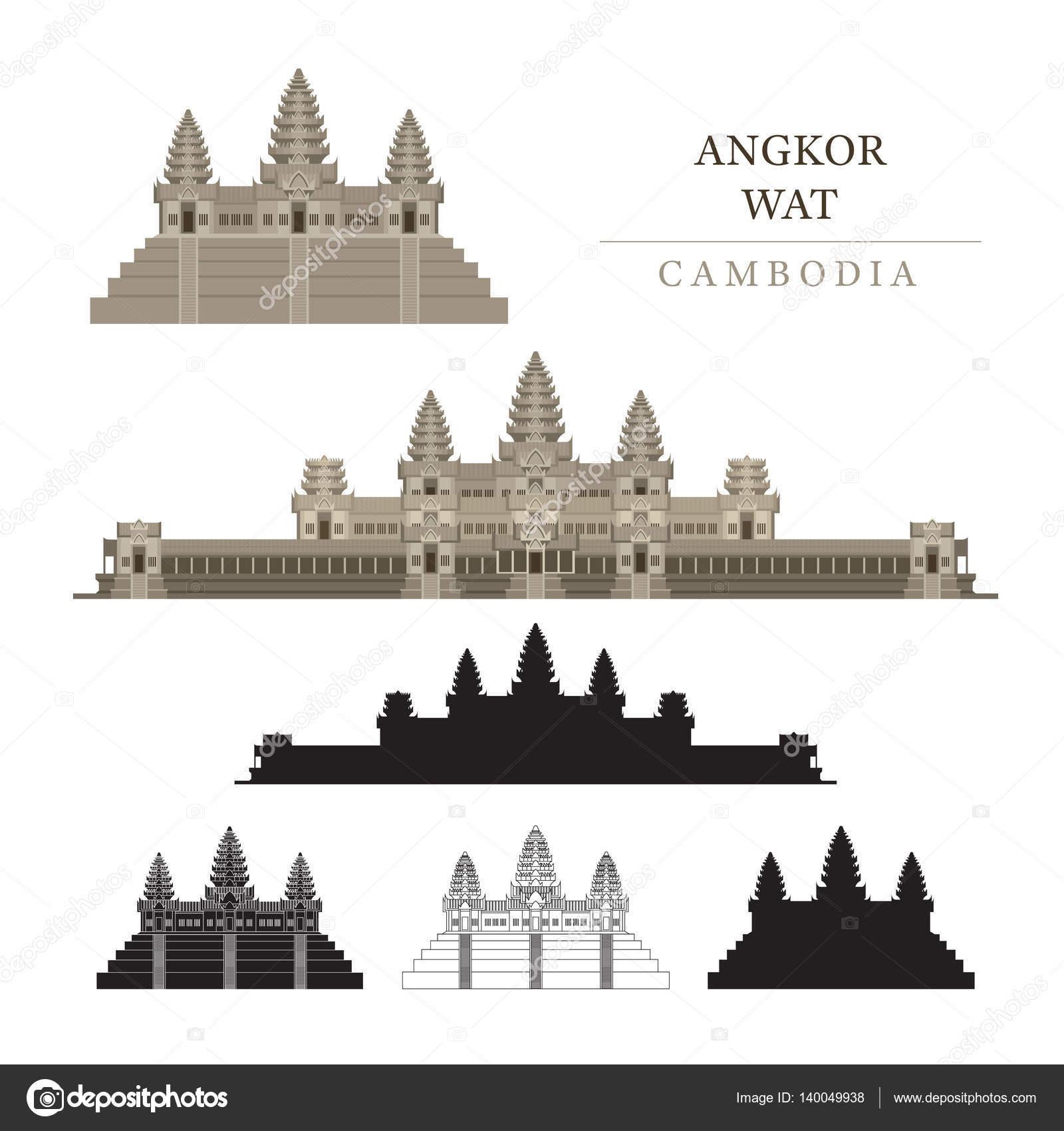 Angkor Wat clipart indian temple Wat Stock Vectors Free Wat