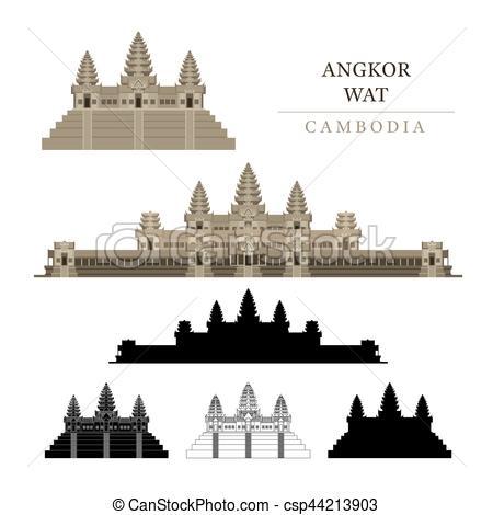 Angkor Wat clipart indian temple Angkor Wat Cambodia Colourful Wat