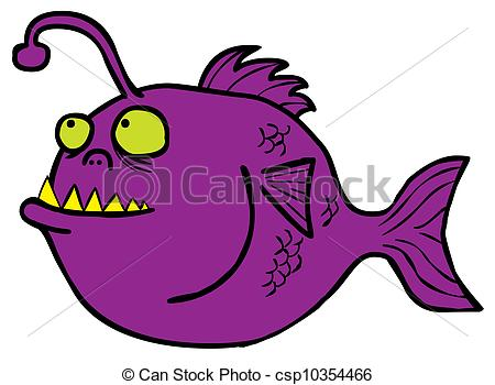 Anglerfish clipart Monster Art csp10354466 of Fish