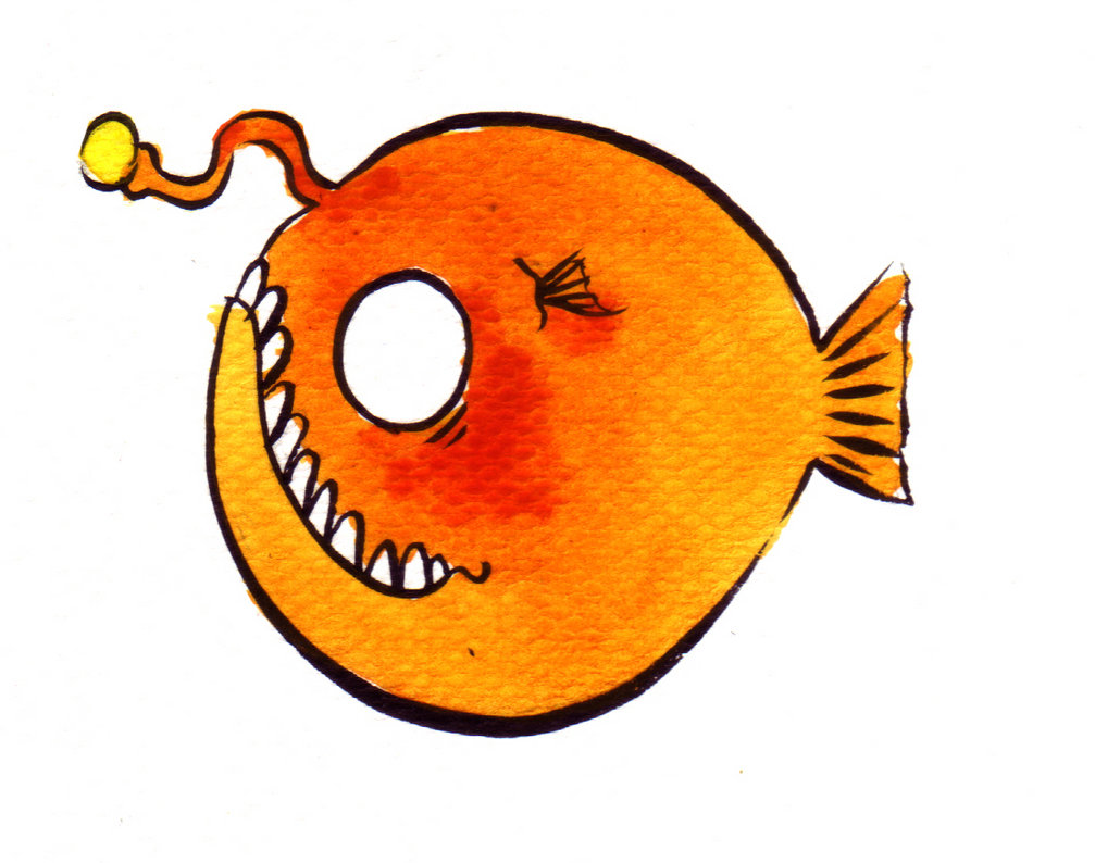Anglerfish clipart Fish on by Angler Angler