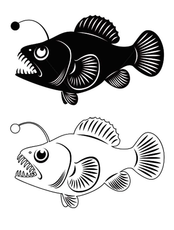 Anglerfish clipart Angler Clip Fish Clip Angler