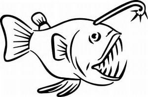 Anglerfish clipart black and white Wallpapers pages angler angler fish
