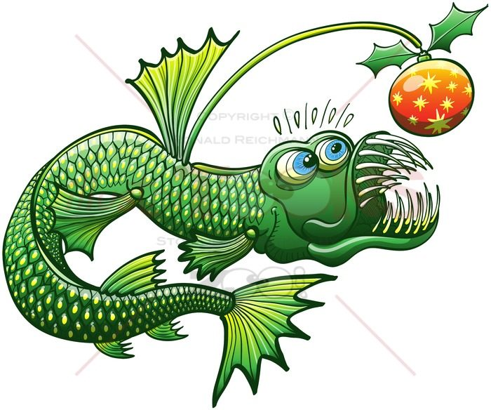 Anglerfish clipart green fish Carrying a illustratoons angler fish