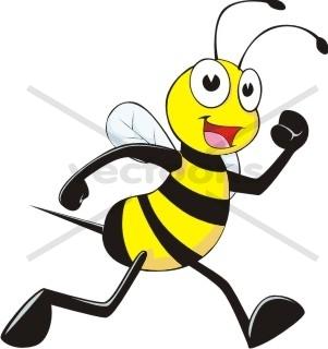 Bee clipart cartoon character Jogging Buy Art art bee