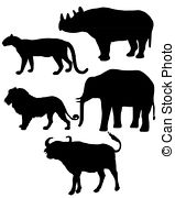 Animal clipart big 5 And 9 Images Photos Stock