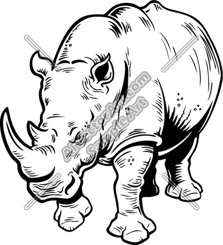 Animal clipart big 5 5 Vectorart for Rhinos ClipartImages
