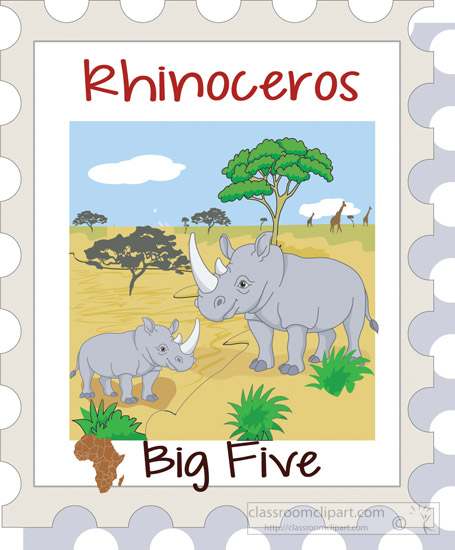 Animal clipart big 5 Clip 56 africa #1 art