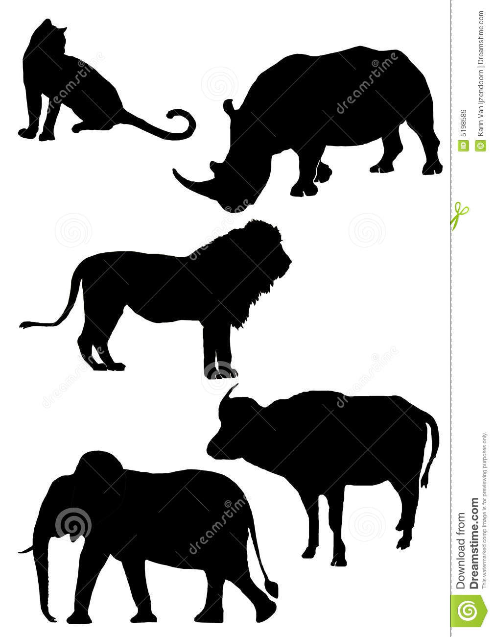Animal clipart big 5 BIG Google Search SOLHOUETTE 5