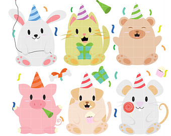 Animal clipart birthday For Scrapbooking Tropical Scrapbooking Paper
