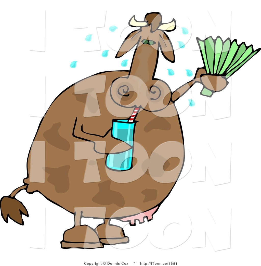 Animal clipart drink water Hot Stock Brown and Drinking