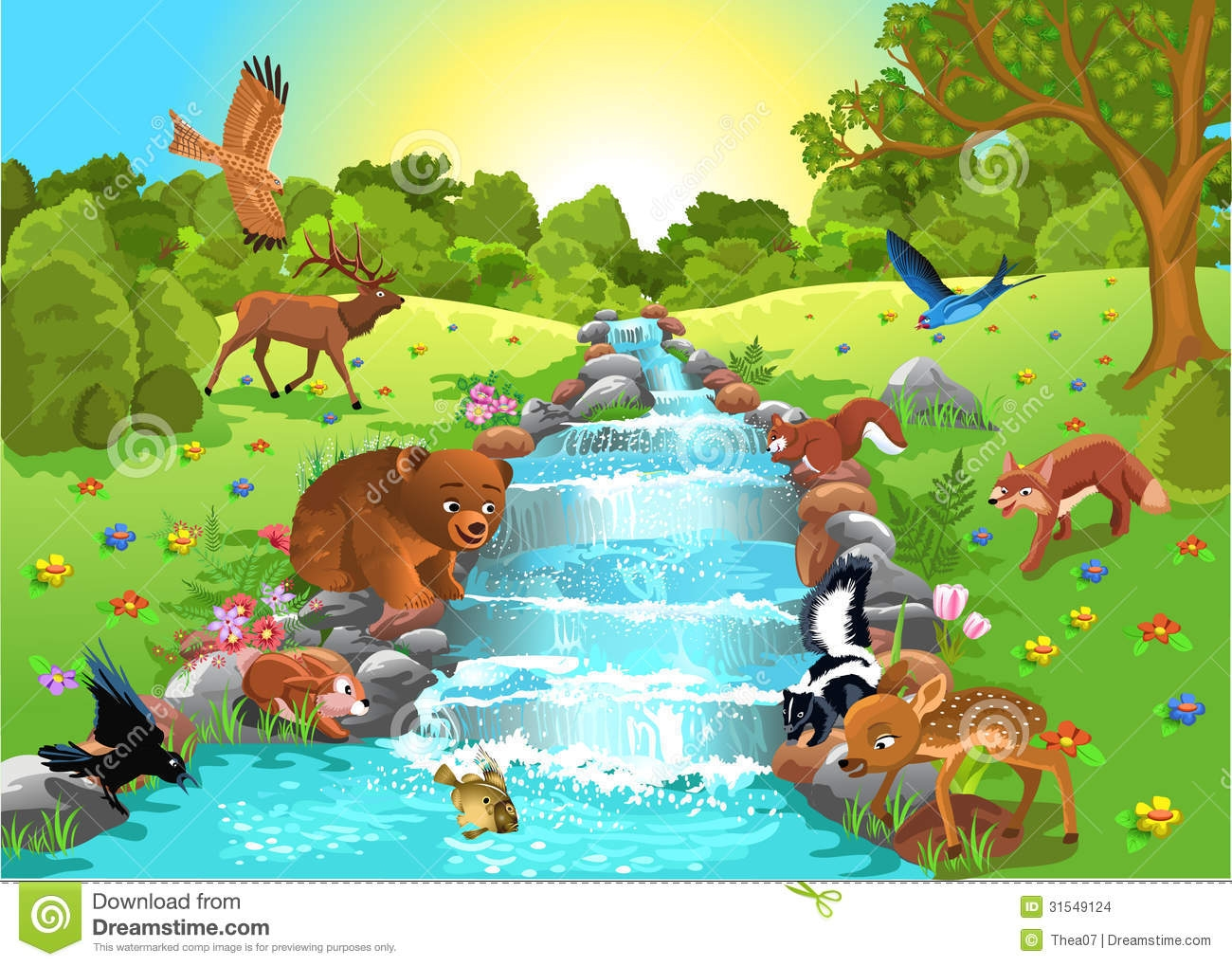 Animal clipart drink water Clipart drink drink water water